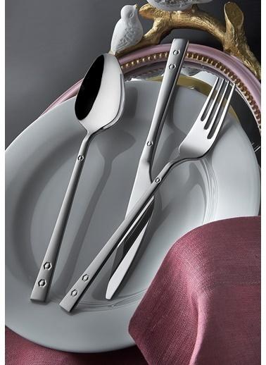 Yetkin Pırlanta Saten 60 Parça Delux Çatal Bıçak Seti Renkli